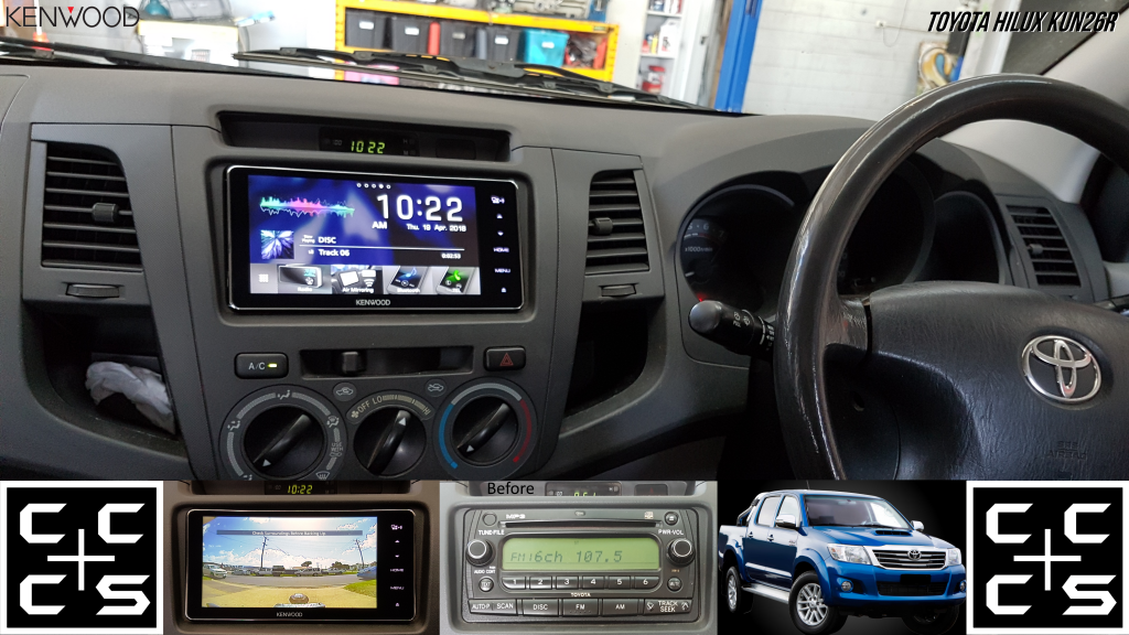 07 HILUX Headunit Upgrade Kenwood