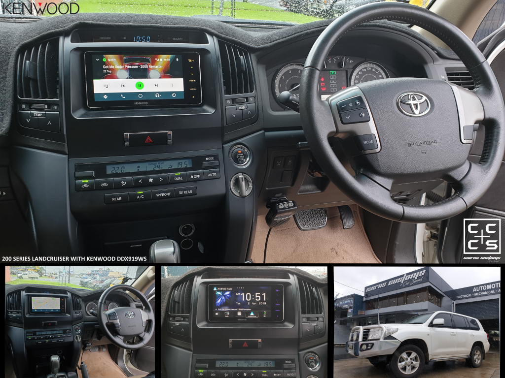 200 Series Landcruiser Kenwood Headunit Upgrade