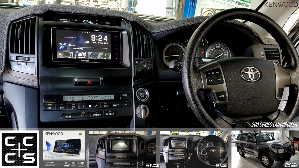 200 series landcruiser headunit upgrade kenwood