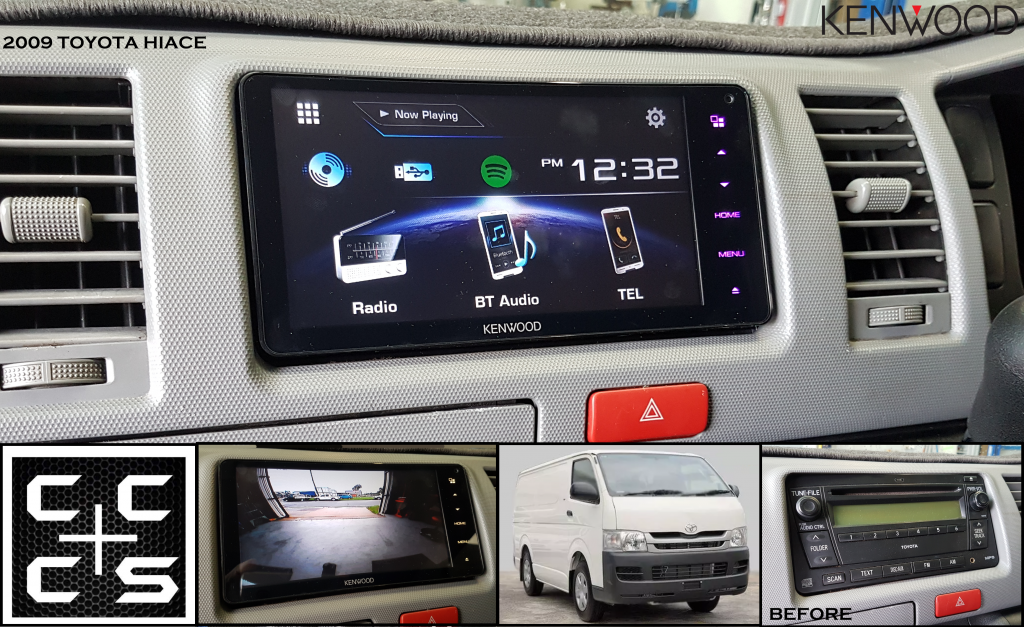 2009 Hiace headunit Upgrade kenwood