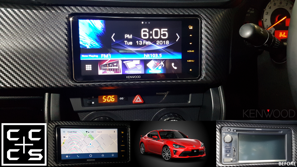 2017 TOYOTA 86 headunit upgrade kenwood