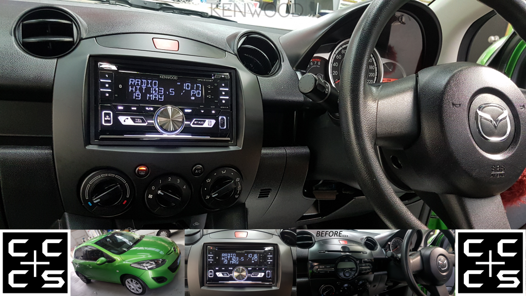 MAZDA 2 Headunit Upgrade Kenwood