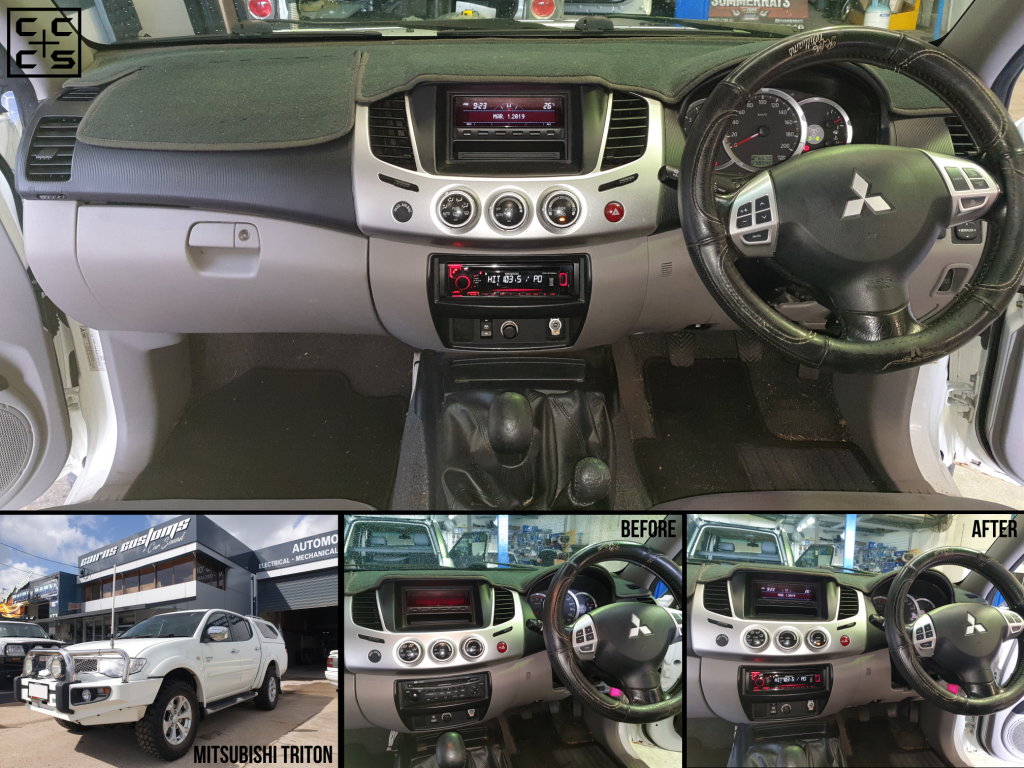 Mitsubishi Triton Basic Kenwood Radio Upgrade