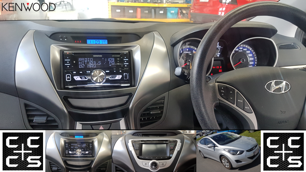Hyundai Elantra Headunit Upgrade Kenwood